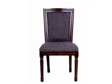Padded Fabric Wooden Frame Chair